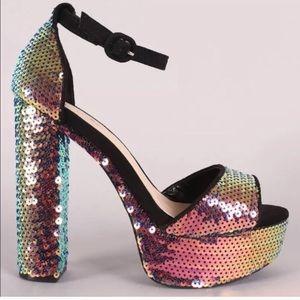 Qupid sequin platform heels!